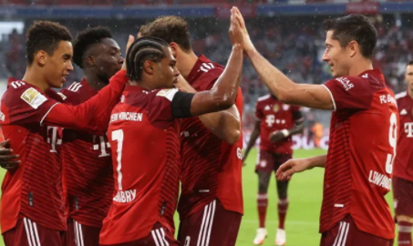 Bayern defeating Cologne 3-2, keep four points