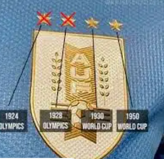 Uruguay to remove stars from their shirts